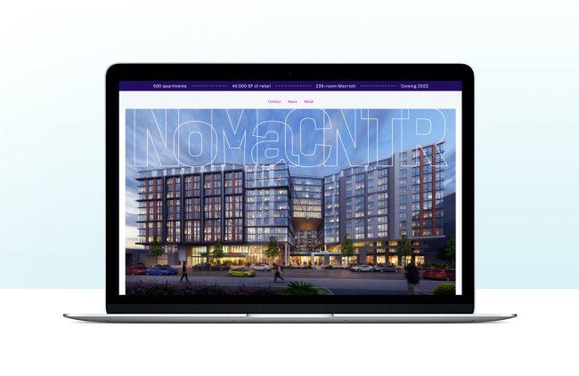 Laptop featuring website
